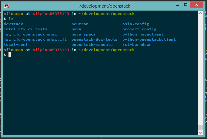 Screenshot showing OpenStack projects I've worked on