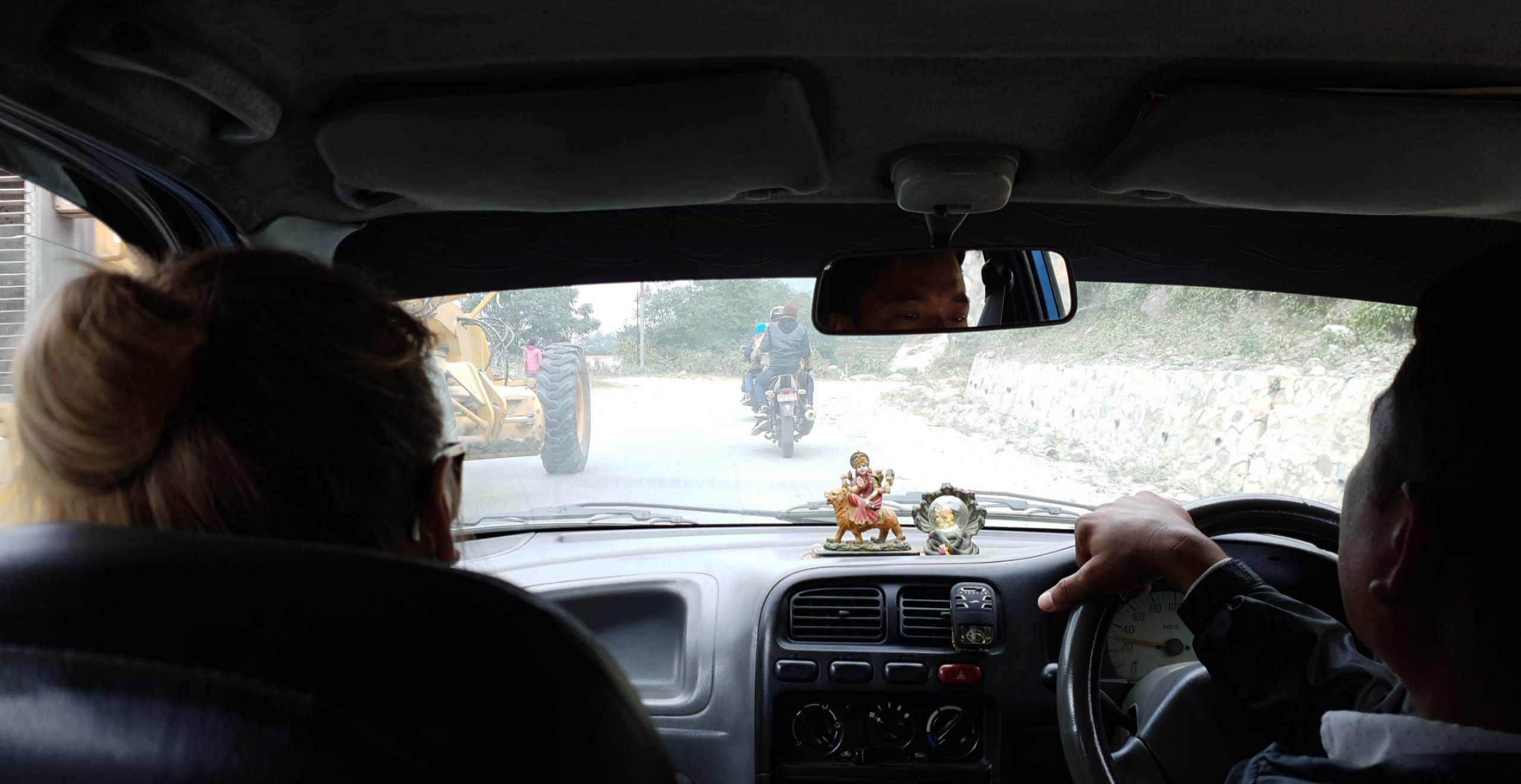 The taxi ride to Nayapul was…interesting.